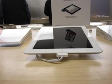This photo shows a white iPad 2 at the St. Louis Galleria on the first day of its release. Pricing for the iPad 2 starts at $499. (March 11, 2011) By KMOV Web Producer