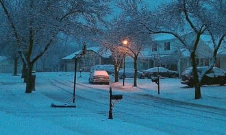 My neighborhood street in Ballwin this morning. By Afton Spriggs