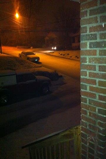 Snow on streets Endicott Park area I-170 & St. Charles Rock Rd. By Afton Spriggs
