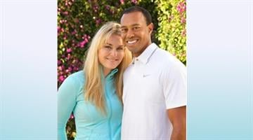 Tiger Woods and Lindsay Vonn. By Brendan Marks