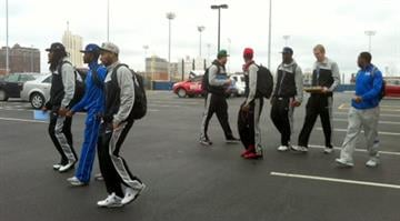 The Saint Louis University Men's Basketball team left campus Monday afternoon for San Jose, CA and their second straight trip to the NCAA Tournament. By Brendan Marks