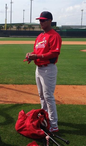Ronny Cedeno at Cardinals spring training - February 2013 By Bryce Moore