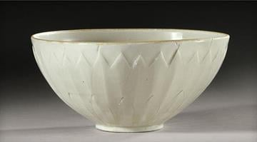 """This undated photo provided by Sotheby's Auction House in New York shows a 1,000-year-old Chinese """"Ding"""" bowl from the Northern Song Dynasty. / By Sarah Heath"""