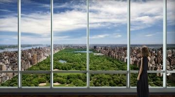 """An artist's impression of a view over Central Park similar to that which will be available from condos in Manhattan's exclusive """"One57"""" development. / One57.com By Belo Content KMOV"""
