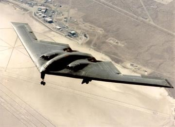 File Photo: A B-2 Stealth Bomber Is Put Through The Paces At Edwards Air Base In California. The B-2 Which Costs $2 Billion Per Plane Has Joined Nato Bombing Over Yugoslavia For The First Time In A Combat Role.  (Photo By USAf/Getty Images) By USAF