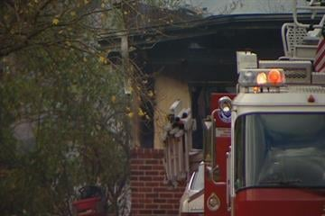 This photos shows fire damage to a Sunset Hills home in the 12000 block of Edelen on Friday, November, 12, 2010. By KMOV Web Producer