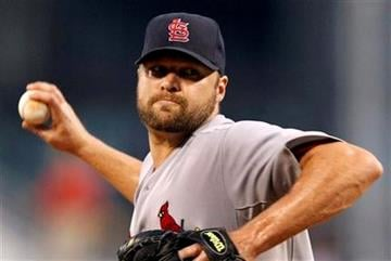 St. Louis Cardinals pitcher Jake Westbrook throws in the first inning during a baseball game against the Pittsburgh Pirates in Pittsburgh Tuesday, Sept. 21, 2010. (AP Photo/Gene J. Puskar) By Gene J. Puskar