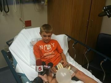 3rd grader Kolby Luvker was on board the Geggie Elementary school bus that collided with a SUV Thursday morning near Eureka.  He, like the other students on the bus, will be okay. By KMOV Web Producer