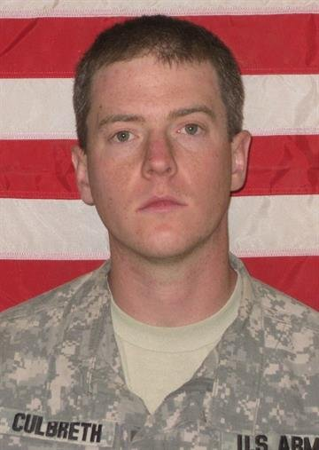 Army Specialist Justin Eric Culbreth, 26, died after being struck by an improvised explosive device in Kandahar. By KMOV Web Producer