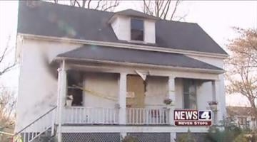 This November 21, 2010 photo shows a house in the 1900 block of Switzer in Jennings that caught fire just after 3 a.m. Sunday morning. One teen died in the fire and four others were injured. By KMOV Web Producer