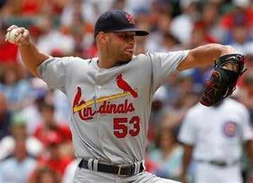 St. Louis Cardinals starter Blake Hawksworth delivers a pitch against the Chicago Cubs during the first inning of a baseball game, Saturday, July 24, 2010, in Chicago.(AP Photo/Nam Y. Huh) By Nam Y. Huh