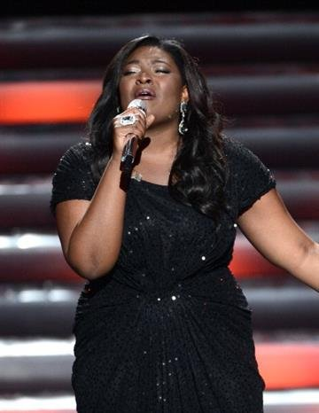 """LOS ANGELES, CA - MAY 16:  Winner Candice Glover performs onstage during Fox's """"American Idol 2013"""" Finale Results Show at Nokia Theatre L.A. Live on May 16, 2013 in Los Angeles, California.  (Photo by Kevin Winter/Getty Images) By Kevin Winter"""