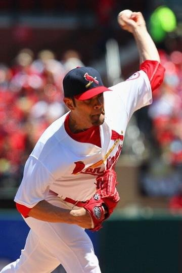 ST. LOUIS, MO - MAY 12: Starter Jaime Garcia #54 of the St. Louis Cardinals pitches against the Colorado Rockies at Busch Stadium on May 12, 2013 in St. Louis, Missouri.  (Photo by Dilip Vishwanat/Getty Images) By Dilip Vishwanat
