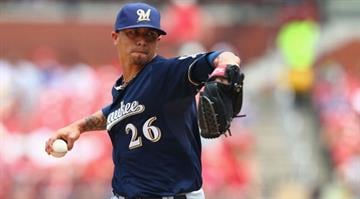 ST. LOUIS, MO - MAY 19: Starter Kyle Lohse #26 of the Milwaukee Brewers pitches against the St. Louis Cardinals at Busch Stadium on May 19, 2013 in St. Louis, Missouri. (Photo by Dilip Vishwanat/Getty Images) By Dan Mueller