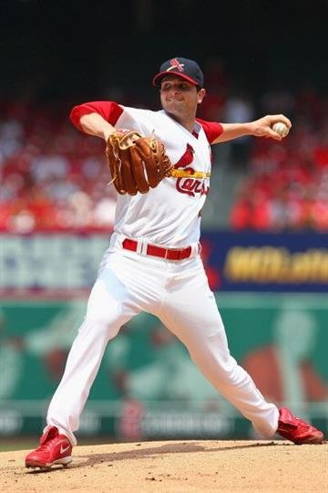 ST. LOUIS, MO - MAY 19: Starter John Gast #64 of the St. Louis Cardinals pitches against the Milwaukee Brewers at Busch Stadium on May 19, 2013 in St. Louis, Missouri.  (Photo by Dilip Vishwanat/Getty Images) By Dilip Vishwanat