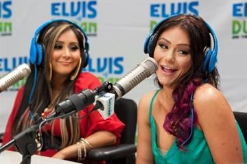 """NEW YORK, NY - JUNE 20:  Nicole """"Snooki"""" Polizzi (L) and Jenni """"JWoww"""" Farley visit the Elvis Duran Z100 Morning Show at Z100 Studio on June 20, 2012 in New York City.  (Photo by D Dipasupil/Getty Images) By D Dipasupil"""