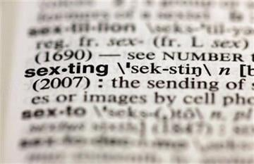 "The entry ""sexting,"" photographed in New York, Friday, Aug. 10, 2012, is one of the 15 new additions in the 11th edition of Merriam-Webster's Collegiate Dictionary. (AP Photo/Richard Drew) By Richard Drew"