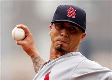 St. Louis Cardinals pitcher Kyle Lohse delivers during the second inning of a baseball game against the Pittsburgh Pirates in Pittsburgh, Sunday, July 24, 2011. (AP Photo/Gene J. Puskar) By Gene J. Puskar