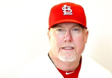 JUPITER, FL - FEBRUARY 29: Hitting coach Mark McGwire #25 of the St. Louis Cardinals poses during photo day at Roger Dean Stadium on February 29, 2012 in Jupiter, Florida.  (Photo by Mike Ehrmann/Getty Images) By Mike Ehrmann