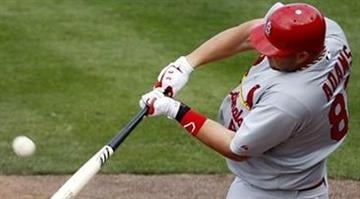 St. Louis Cardinals' Matt Adams hits a grand slam during the seventh inning of a spring training baseball game against the New York Mets on Tuesday, March 6, 2012, in Port St. Lucie, Fla. (AP Photo/Jeff Roberson) By Belo Content KMOV