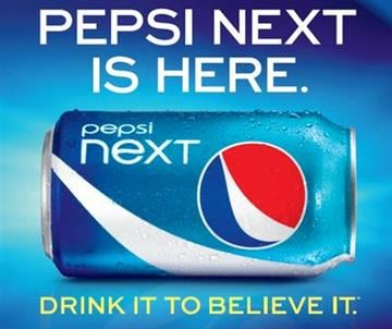 """This screen shot provided PepsiCo, shows the advertisement for """"Pepsi Next,"""" a mid-calorie drink that has about half the calories of regular Pepsi at 60 calories per can. (AP Photo/PepsiCo) By KMOV Web Producer"""