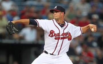 Atlanta Braves starting pitcher Mike Minor (56) works in the first inning of a Major League Baseball game against the St. Louis Cardinals in Atlanta, on Friday, Sept. 10, 2010. (AP Photo/John Bazemore) By John Bazemore