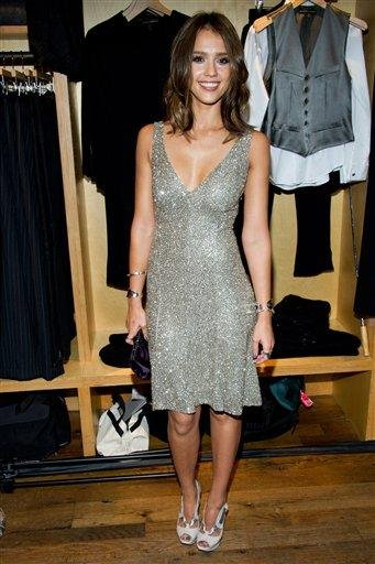 Jessica Alba appears at the Ralph Lauren Soho store for Fashion's Night Out in New York, Friday, Sept. 10, 2010. (AP Photo/Charles Sykes) By Charles Sykes