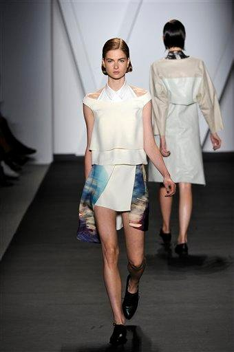 The Michael Angel Spring 2011 collection is modeled Friday, Sept. 10, 2010 during Fashion Week in New York. (AP Photo/Michael Angel Fashion) NO SALES By KMOV Web Producer