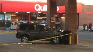The scene of an accident where a 38-year-old woman was struck and killed while pumping gas at the QuickTrip on Gravois and Loughborough (September 13, 2010).