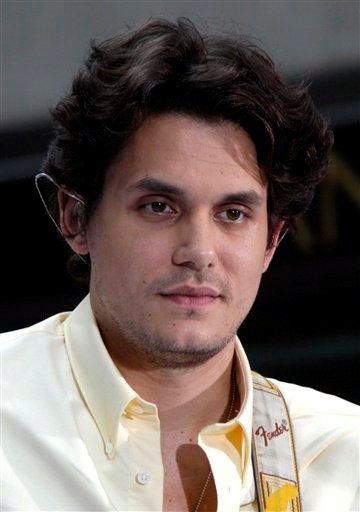 """FILE - In this July 23, 2010 file photo, John Mayer appears on the NBC """"Today"""" television program in New York. (AP Photo/Richard Drew, file) By Richard Drew"""