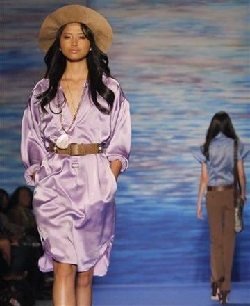Fashion from Tracy Reese Spring 2011 collection is modeled Monday Sept. 13, 2010, during Fashion Week in New York. (AP Photo/Bebeto Matthews) By BEBETO MATTHEWS