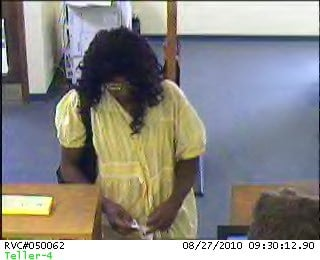 The suspect in this surveillance photo is accused of holding up a bank in the 2900 block of Telegraph on August, 27. By Afton Spriggs