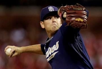 San Diego Padres starting pitcher Tim Stauffer throws during the first inning of a baseball game against the St. Louis Cardinals Thursday, Sept. 16, 2010, in St. Louis. (AP Photo/Jeff Roberson) By Jeff Roberson