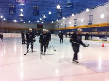 The St. Louis Blues had their first day of training camp on Friday at the St. Louis Mills Mall. By Afton Spriggs