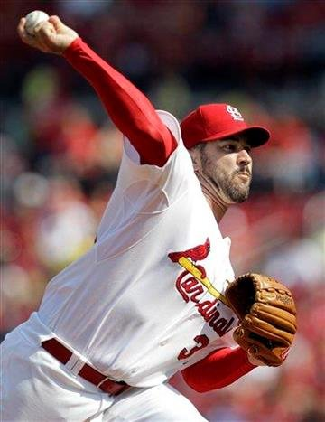 St. Louis Cardinals starting pitcher Jeff Suppan throws during the first inning of a baseball game against the San Diego Padres, Saturday, Sept. 18, 2010, in St. Louis. (AP Photo/Jeff Roberson) By Jeff Roberson