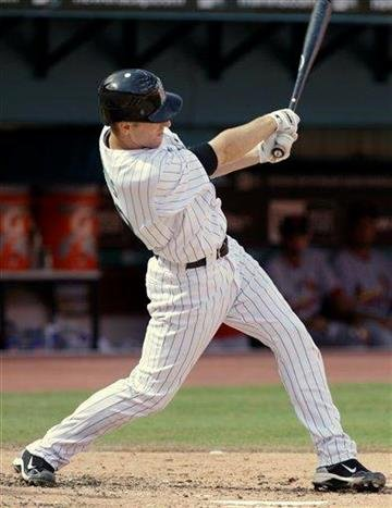 Florida Marlins' Brad Davis hits a grand slam in the second inning during a baseball game against the St. Louis Cardinals in Miami, Monday, Sept. 20, 2010. The Marlins won 4-0. (AP Photo/Lynne Sladky) By Lynne Sladky