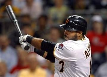 Pittsburgh Pirates' Pedro Alvarez watches his two-run double in the third inning of a baseball game against the St. Louis Cardinals in Pittsburgh, Wednesday, Sept. 22, 2010. (AP Photo/Keith Srakocic) By Keith Srakocic