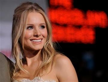 """Kristen Bell, a cast member in """"You Again,"""" poses at the premiere of the film in Los Angeles, Wednesday, Sept. 22, 2010. (AP Photo/Chris Pizzello) By Chris Pizzello"""