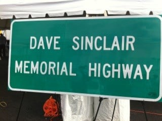 A stretch of Lindbergh Boulevard in south St. Louis county has been renamed in honor of iconic car businessman Dave Sinclair.