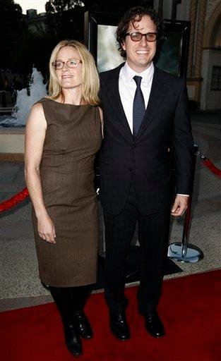 """Director Davis Guggenheim, right, and Elisabeth Shue arrive at the premiere of """"Waiting for 'Superman'"""" in Los Angeles, Monday, Sept. 20, 2010. (AP Photo/Matt Sayles) By Matt Sayles"""