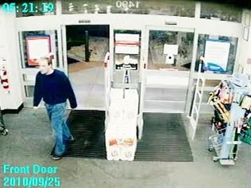 Surveillance photos show suspect in O'Fallon Walgreens robbery on Saturday, September 25, 2010.