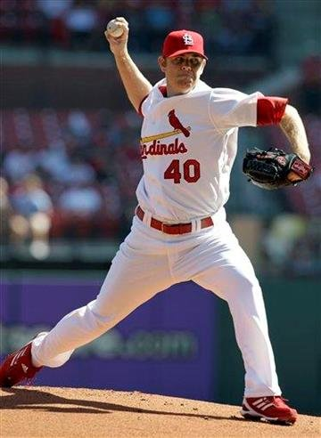 St. Louis Cardinals' P.J. Walters throws during the first inning of a baseball game against the Pittsburgh Pirates, Wednesday, Sept. 29, 2010, in St. Louis. (AP Photo/Jeff Roberson) By Jeff Roberson