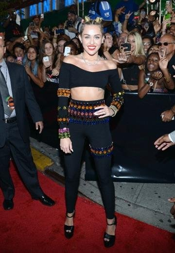 NEW YORK, NY - AUGUST 25:  Miley Cyrus attends the 2013 MTV Video Music Awards at the Barclays Center on August 25, 2013 in the Brooklyn borough of New York City.  (Photo by Larry Busacca/Getty Images for MTV) By Larry Busacca