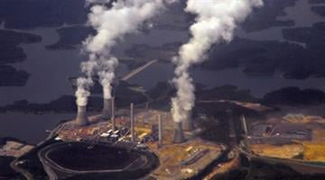 Georgia Power's coal-fired plant in Euharlee, Georgia, about 40 miles northwest of Atlanta, is the US's second biggest power station for carbon emissions. Photograph: Karen Bleier/AFP/Getty Images By Belo Content KMOV