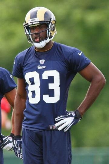 ST. LOUIS, MO - MAY 12: Brian Quick #83 of the St. Louis Rams looks on during rookie mini camp at the ContinuityX Training Center on May 12, 2012 in St. Louis, Missouri. (Photo by Dilip Vishwanat/Getty Images) By Dilip Vishwanat