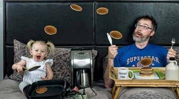Maryland-based father Dave Engledow started creating funny whimsical portraits of himself and his daughter Alice Bee. By Belo Content KMOV