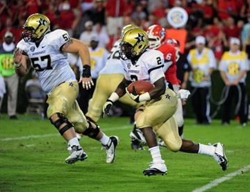 ATHENS, GA - SEPTEMBER 22: Zac Stacy #2 of the Vanderbilt Commodores carries the ball against the Georgia Bulldogs at Sanford Stadium on September 22, 2012 in Athens, Georgia. (Photo by Scott Cunningham/Getty Images) By Scott Cunningham