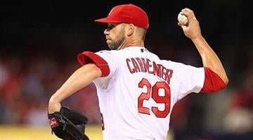 ST. LOUIS, MO - OCTOBER 2: Starter Chris Carpenter #29 of the St. Louis Cardinals pitches against the Cincinnati Reds at Busch Stadium on October 2, 2012 in St. Louis, Missouri. (Photo by Dilip Vishwanat/Getty Images) By KMOV Web Producer