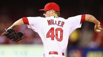 ST. LOUIS, MO - OCTOBER 3: Starter Shelby Miller #40 of the St. Louis Cardinals pitches against the Cincinnati Reds at Busch Stadium on October 3, 2012 in St. Louis, Missouri. (Photo by Dilip Vishwanat/Getty Images) By KMOV Web Producer