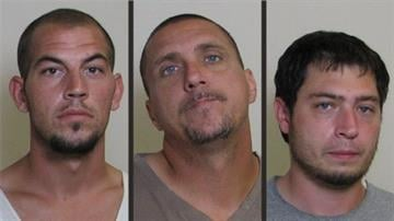 Police say William Stough, 26, Jason Brown, 36, and Matthew Conrad, 24, were charged Thursday in connection to a string of Metro-East robberies. By Dan Mueller